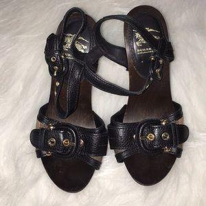 Burberry Prorsum Leather/ Wooden heel - size 5